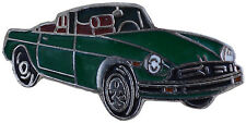 MG MGB Rubber bumper car cut out lapel pin - Green body