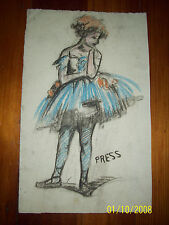 ESTHER E. PRESSOIR listed COLORED PENCIL STUDY OF DRAWING OF A BALLERINA