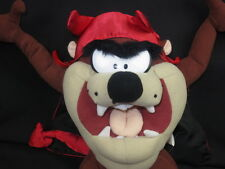 LOONEY TUNES TASMANIAN DEVIL RED CAPE COSTUME TAIL PLUSH STUFFED ANIMAL TOY