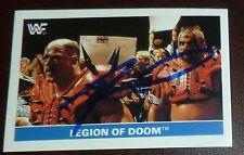 Road Warrior Animal Signed Legion of Doom 1991 Stickers WWF Card #117 WWE Auto'd