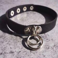 Modeschmuck-Halsketten & -Anhänger im Choker aus Leder