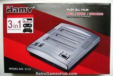 Retro Trio NES SNES Mega Drive Console - Plays NES Super NES  & Mega Drive games