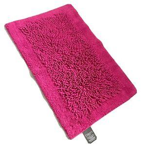 NEW CHRISTY Fuschia Pink Bath Mat 50x80cm Traditional Fringe 100% Cotton RP £35