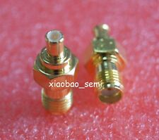 1X Adapter SMA female jack to MCX male plug RF connector straight Gold Plating