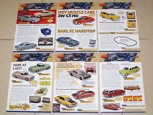 TRAX Catalogue 2004 Complete Set of 6 Model Car Brochures - Holden Ford Chrysler