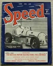 SPEED Magazine Motor Racing Sport April 1939 LAST ISSUE Hotchkiss Tested