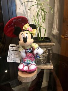 Minnie Mouse KIMONO & umbrella, JAPAN Tokyo Disney Resort Plush Brand new w/tag