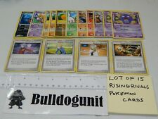 Lot of 15 Rising Rivals Pokemon Cards Alakazam Supporter Trainers Weezing 2009