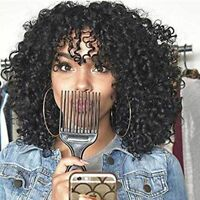 Black Afro Kinky Curly Wig Short Synthetic Hair Full Curly Wigs for Black Women