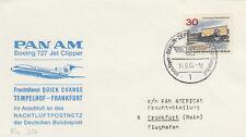 (14314) Germany Pan Am Cover Berlin Tempelhof - Frankfurt 15 Sept 1966