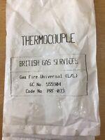 Genuine British Gas PRF033 Gas Fire Universal Thermocouple  'BN'