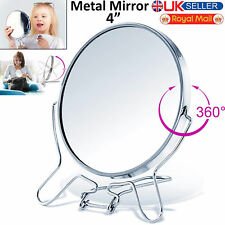 "4"" Round Makeup Cosmetic Mirror Small Double Sided Folding 2 Way Zoom 2x Magnify"