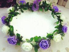Hot  Flower Crown Festival Headband Wedding Garland Floral Hairband Accessories