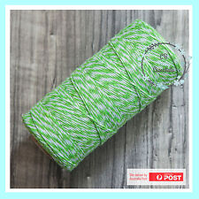 4 PLY BAKERS TWINE STRING GREEN ~ Craft Gift Party Favour Scrapbook Wedding~