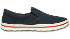 New Men's Crocs Norlin Slip-on Loafer Canvas Shoes 8 9 10 11 12 13 Navy Gray
