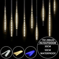 ✅LED Meteor Shower Falling Star Rain Drop Icicle Snow Fall Strip Light Christmas