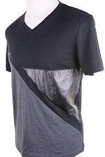 INC International Concepts Deep Black T-Shirt Short Sleeve V-Neck Men's M