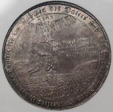 Germany 1723 Harz Baptismal Taler Coin NGC AU58 Zellerfeld Toned Large Size