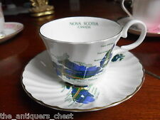Crown Warwick England Nova Scotia Tartan tea cup and saucer[*91]