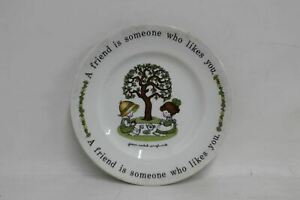 """JOHNSON BROS. Joan Walsh Anglund 8"""" White Porcelain Collectible Plate 1976"""