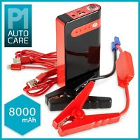 12V 8000mAh Car Jump Starter Power Bank Portable Battery Booster Phone Charger