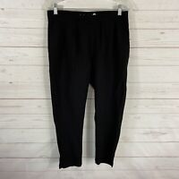 Betabrand Pull On Pleated Front Cropped Pants Size Medium Petite Black Stretch