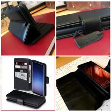 Samsung Galaxy S9 Real Cuero Billetera Estuche Negro UEC ™ Multi Función