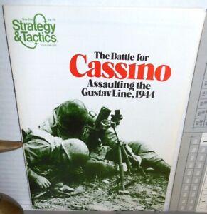 Strategy & Tactics Mag w/ Game #71 WW2 Cassino Assaulting the Gustav 1978 UNP