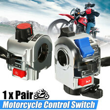 2X 7/8'' Motorcycle Handlebar Control Horn Turn Signal Electrical Start Switch