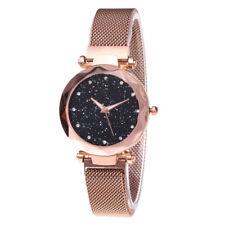 Women Quartz Starry Sky Watch Waterproof Magnet Strap Buckle Diamond Wristwatch