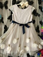 Monsoon girls Party dress age 6 With Hair Clip