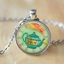Alice In Wonderland Drink Me Fairy Tale Necklace Quotechain Pendant Necklace