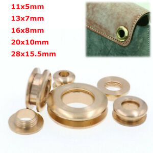 Brass Eyelets Screw on Eyelet With Washer Grommets Leather Craft Hardware DIY