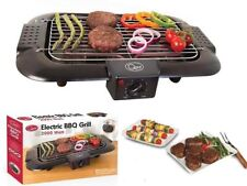 Electric BBQ Grill Griddle Table Top Camping Kitchen Smoke Free Cooking 2000W
