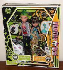 Monster High Cleo de Nile & Deuce Gorgon Set NRFB 2009 #N2854 1st Wave w/ Pets