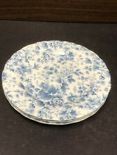 """3 Nikko Tea Roses 7.75"""" Side Plates Blossom Time Japan Excellent Condition"""