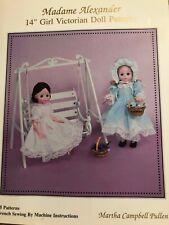 Madame Alexander 14' Girl Victorian Doll Patterns by Martha Pullen (1996,...
