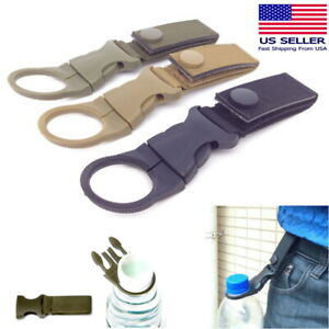 Water Bottle Molle Tactical Carabiner Backpack Belt Quickdraw EDC Nylon Clip