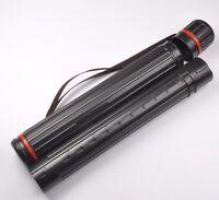Archery Arrow Quiver Holder Case Back Shoulder Tube adjustable 63-105cm Length