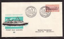 DENMARK 1970 FIRST DAY COVER, BRONZE AGE SHIP !!