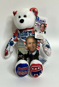 "Gallery Treasures 2004 George Bush Cheney Re-Elect 8"" Plush Bear NEW"