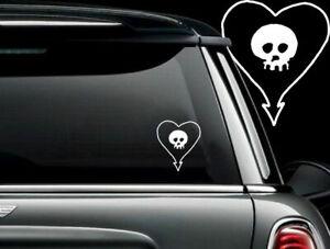 "alkaline trio Heartskull  car 5.5"" decal"