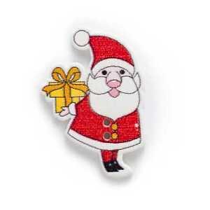 10pcs Christmas Santa Claus Wood Buttons Sewing Scrapbook Handwork Decor 34x23mm