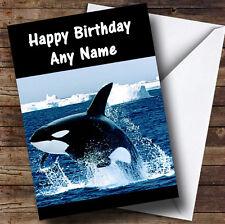 Killer Whale Personalised Birthday Greetings Card
