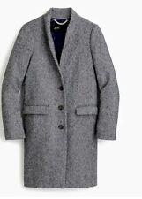 J.Crew Nwt Oversized Topcoat English Herringbone Wool Navy, Camel Sz. 4, 6,12