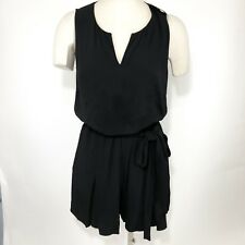 a83d2811e48 Kate Spade Romper Size M Womens Black Fluid Crepe Pockets Sleeveless Belted