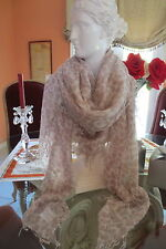 Chan Luu Cashmere Silk White Leopard Combo Is Light As A Feather!  NEW!