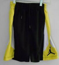 Boys' Air Jordan Jumpman Black Yellow White Basketball Shorts Size S 8/10