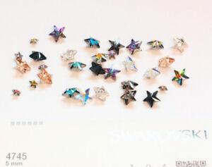 Genuine SWAROVSKI 4745 Rivoli Star Fancy Stones Crystals * Many Sizes & Colors