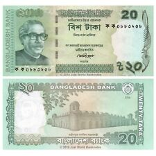 Bangladesh 20 Taka 2012 P-55a First Issue Banknotes UNC